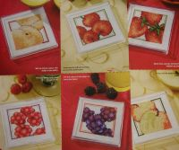 7 Fuit Coasters ~ Cross Stitch Chart