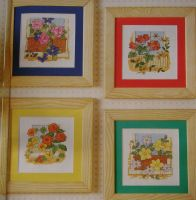 Four Floral Window Boxes ~ Cross Stitch Charts