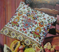 Traditional Indian Patterned Cushion ~ Cross Stitch Chart