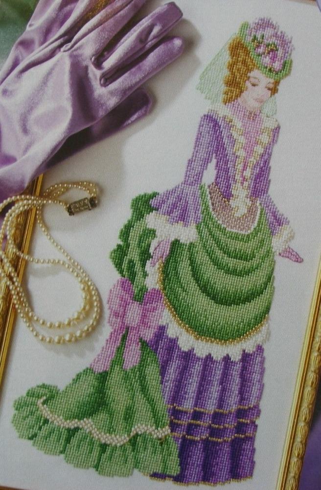 Elegant Victorian Lady ~ Cross Stitch Chart