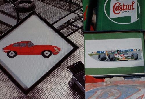 Racing Car & E-Type Jaguar ~ Two Cross Stitch Charts