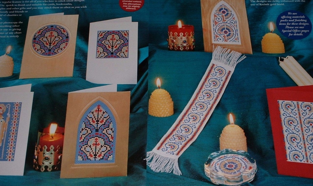 Medieval Style Cards & Bookmarks ~ Eight Cross Stitch Charts