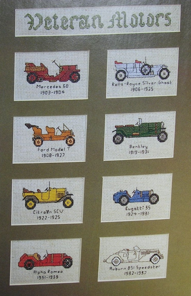 Veteran Motor Cars ~ Cross Stitch Charts