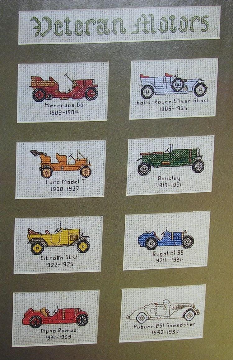 Veteran Motor Cars ~ Cross Stitch Charts