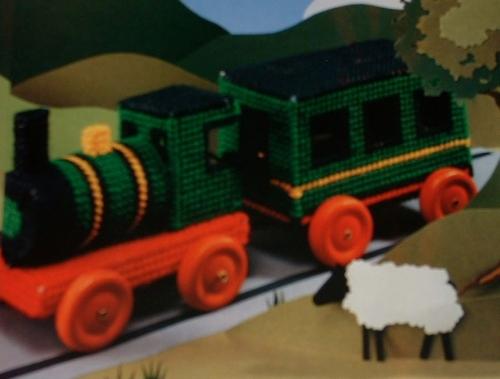 Plastic Canvas Model Train ~ Cross Stitch Chart