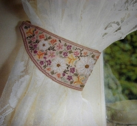Floral Curtain Tie Back ~ Cross Stitch Chart