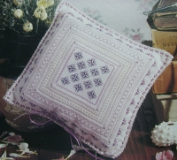 Lavender & Herb Pillow ~ Blackwork & Embroidery Pattern