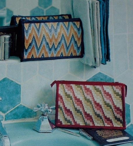 Bargello Florentine Stitch Washbags Embroidery Patterns For Sale