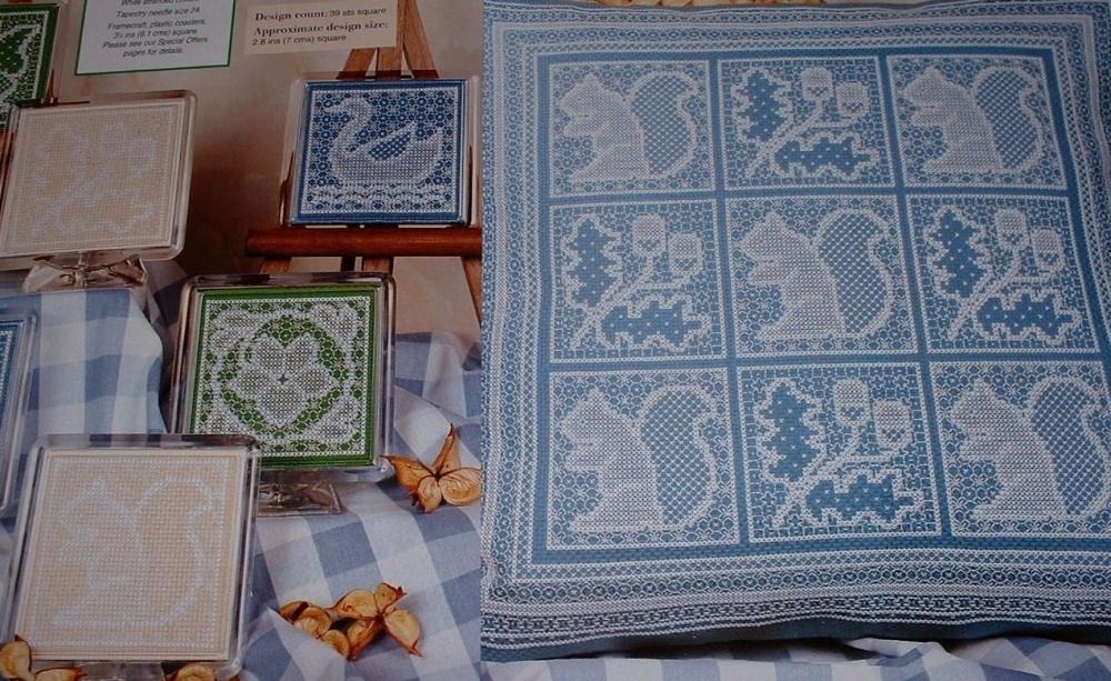 Nature Cushion, Cards 7 Coasters ~ Blackwork Patterns