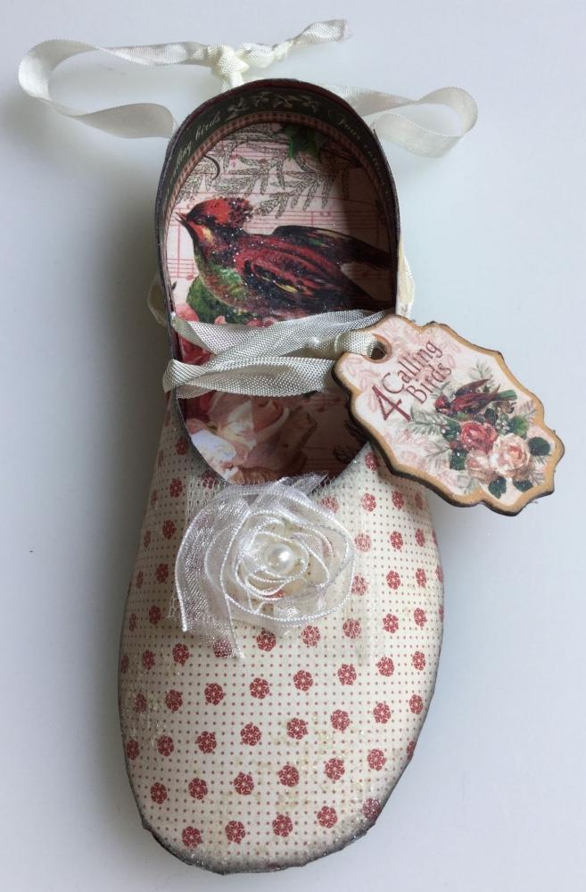 4 Calling Birds ~ Handmade Paper Ballet Slipper