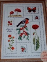 Woodland Reds Sampler ~ Cross Stitch Chart