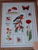 Woodland Reds Sampler ~ Cross Stitch Chart