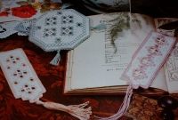 Norwegian Hardanger Scented Sachet & Bookmarks ~ Three Patterns