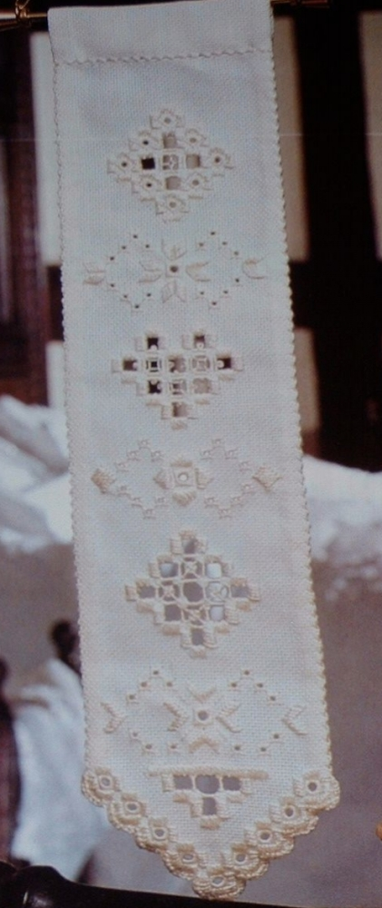 Norwegian Hardanger Bellpull Sampler Embroidery Patterns For Sale