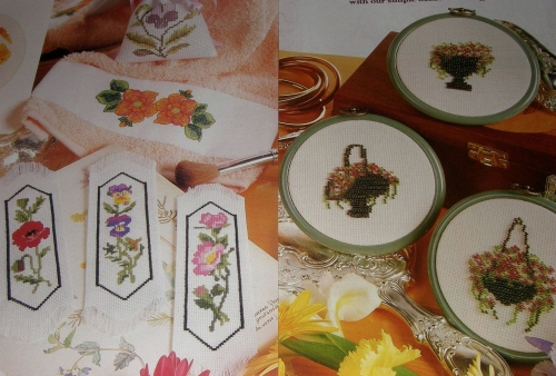Floral Designs ~ Nine Cross Stitch / Beadwork Charts