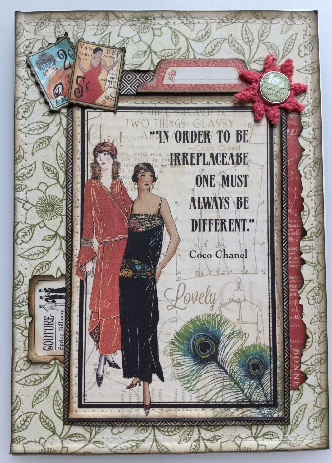 always be different coc chanel full A5 handmade graphic 45 card