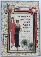*always be different* OOAK Handmade Luxury Vintage Boxed Card