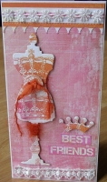 *regal best friends* OOAK Handmade Friendship Card