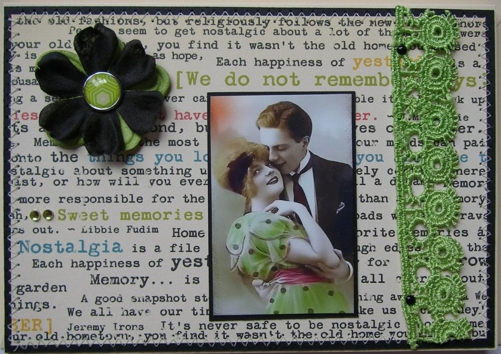 *sweet memories* OOAK Handmade Vintage Style Anniversary Card