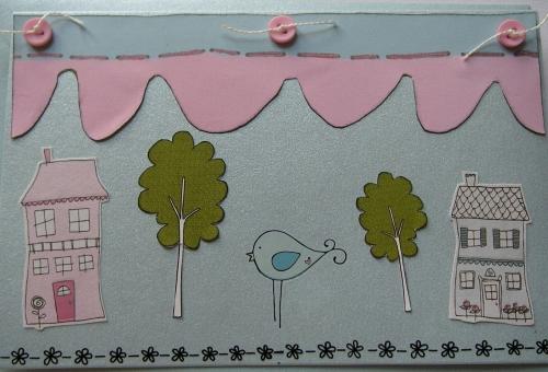 *houses & trees* ~ OOAK Handmade New Home/Moving House Card