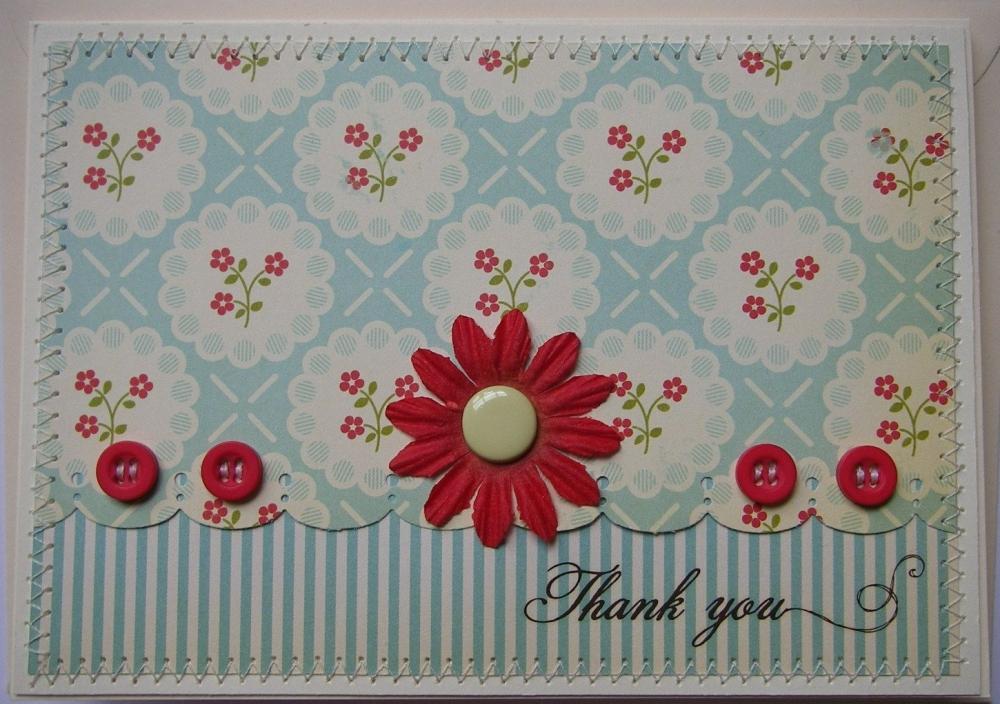*1950's style* OOAK Handmade Thank You Card