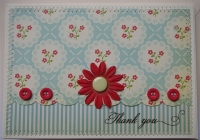 *1950's style* OOAK Handmade Thank You Card