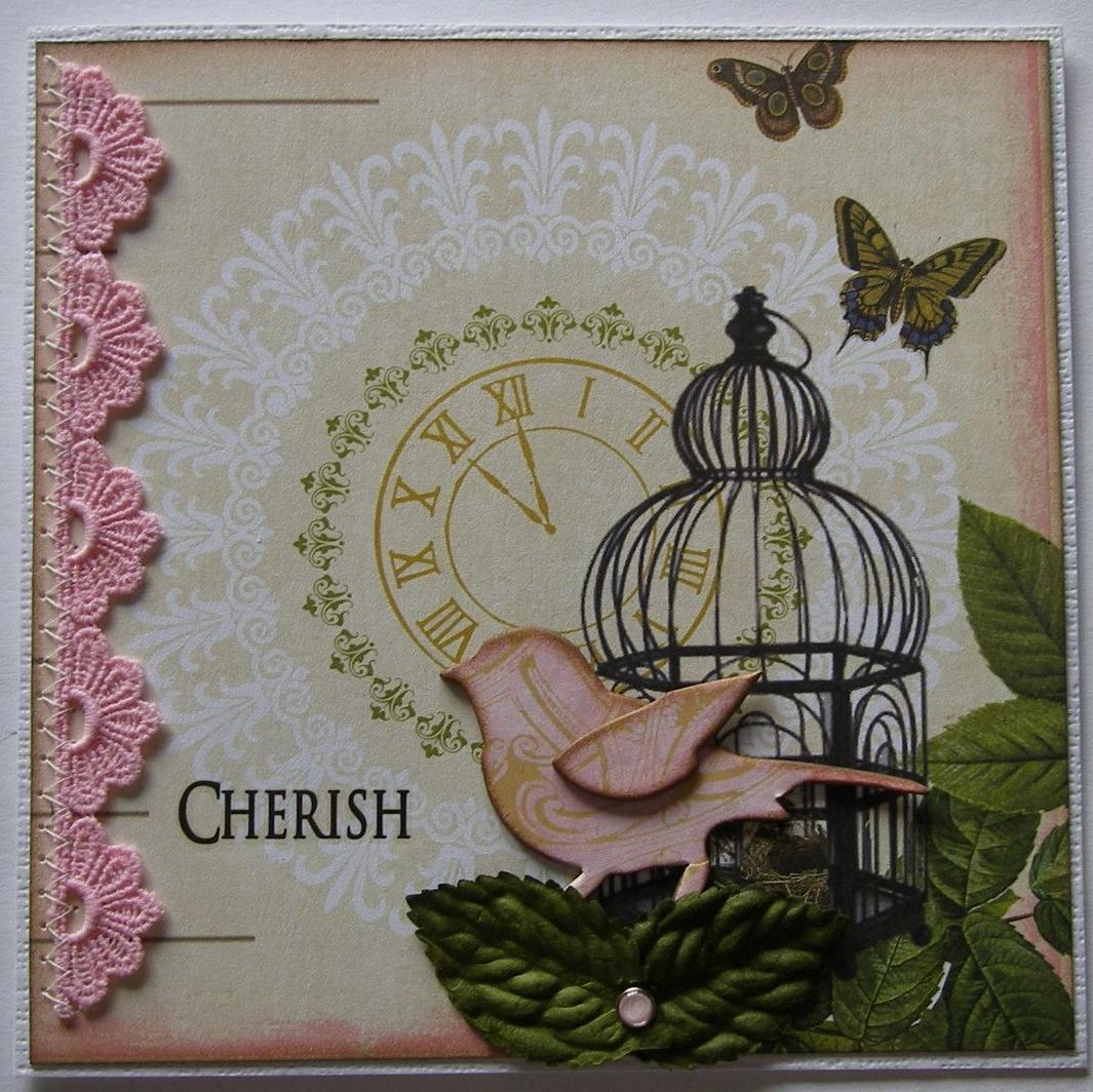*cherish* OOAK Handmade Valentine/Anniversary/Wedding Card