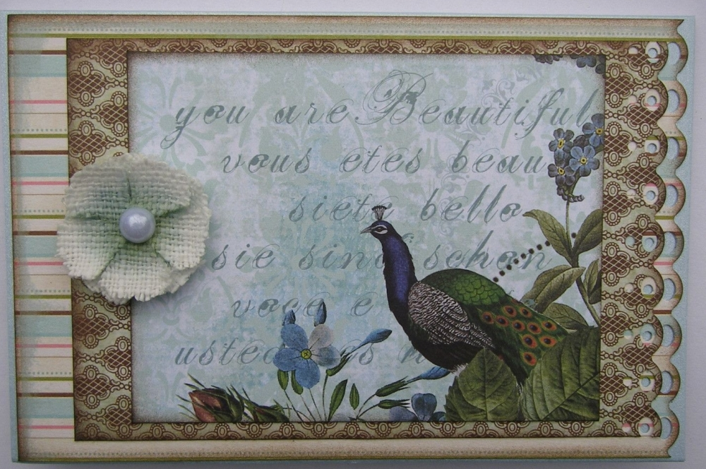 *you are beautiful* OOAK Handmade Card