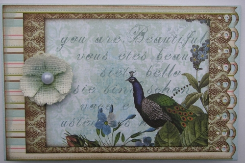 *you are beautiful* OOAK Handmade Card