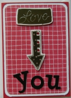 *love you* OOAK Handmade Valentine/Anniversary Card