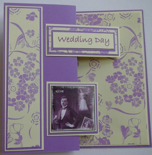 *adore* Wedding Day ~ OOAK Handmade Wedding Card