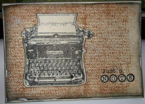 *just a note* OOAK Handmade General Notecard Card