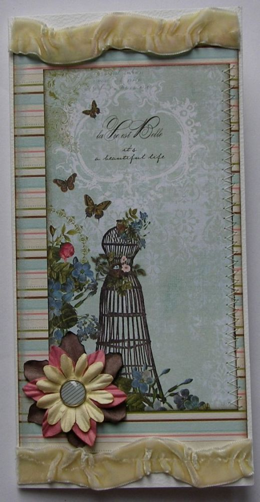*it's a beautiful life* *la Vie est Belle* OOAK Handmade Card