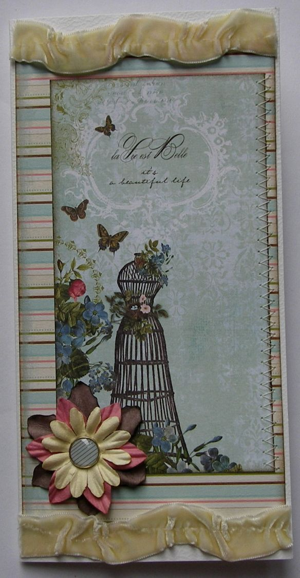 *it's a beautiful life* *la Vie est Belle* OOAK Handmade Card
