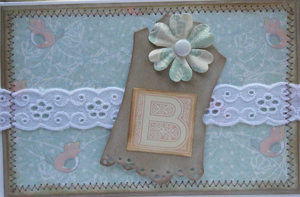 *B is for Baby* OOAK Handmade Baby Card