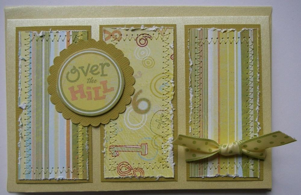 *over the hill* OOAK Handmade Birthday Card