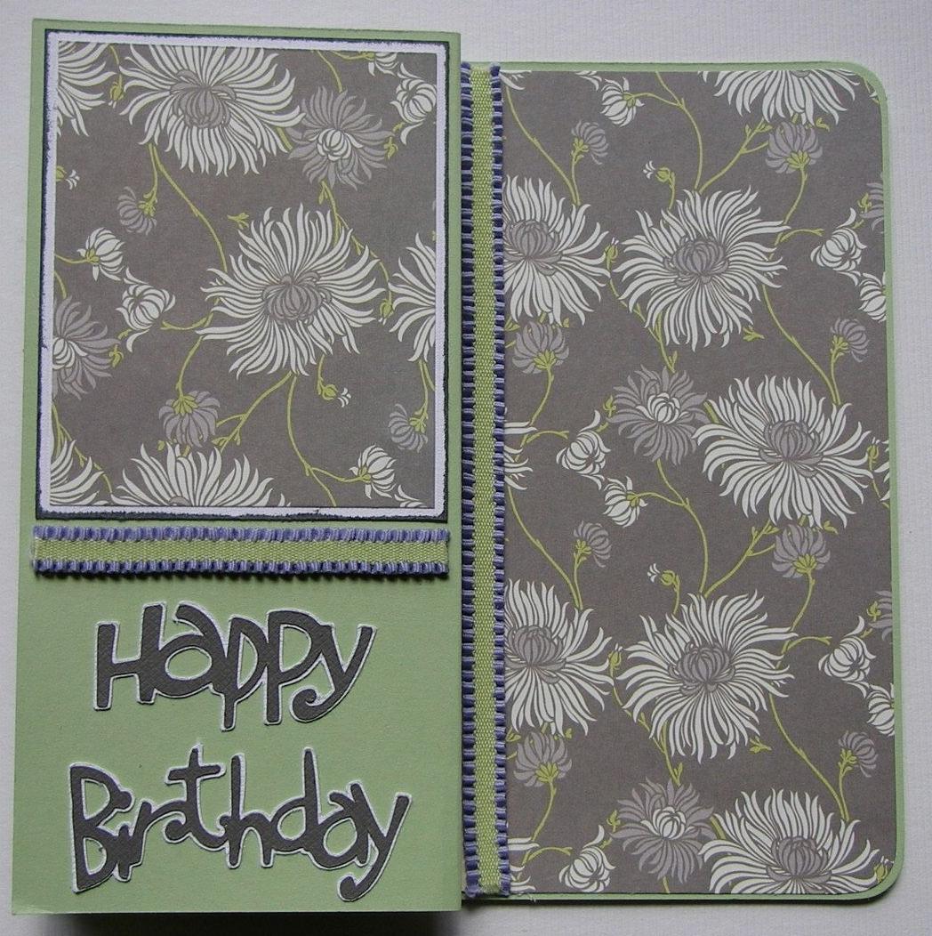 *happy birthday* flowers ~ OOAK Handmade Birthday Card