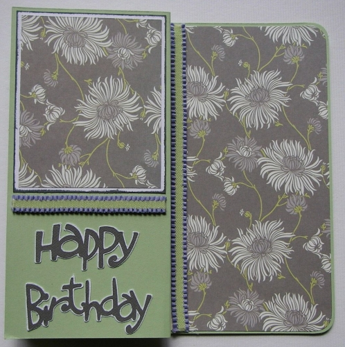 *happy birthday* flowers ~ OOAK Handmade Birthday Card