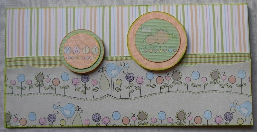 *little pumpkin* ~ OOAK Handmade Baby Cards