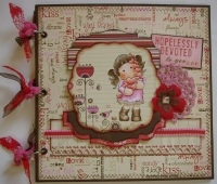 *hopelessly devoted* OOAK Handmade ValentineScrapbook Photo Album