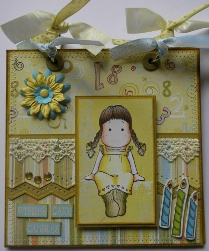 *wishes cake candles* Handmade Birthday Scrapbook Photo Memory Album