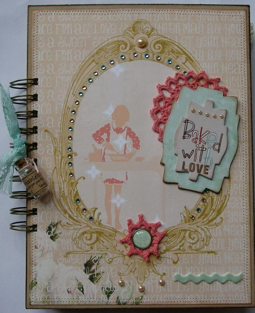 *baked with love* OOAK Handmade Vintage Recipe Scrapbook Album
