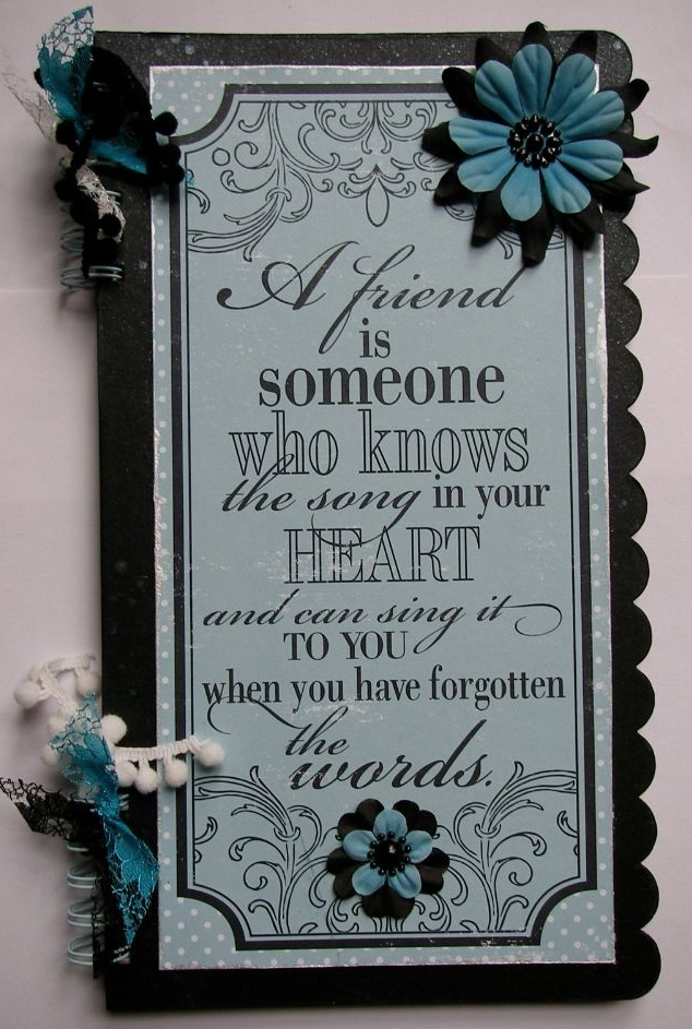 FRIENDSHIP ~ OOAK Handmade Scrapbook Albums