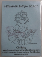 Elisabeth Bell for SCACD: Oh Baby ~ Rubber Stamp