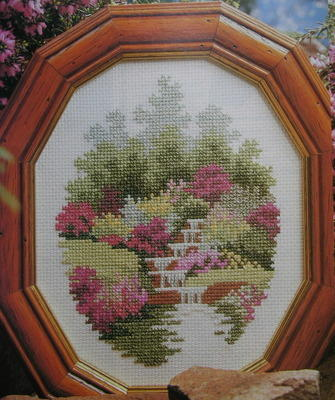 Scottish Heather Garden with Pool ~ Cross Stitch Chart