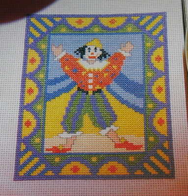 Circus Clown ~ Cross Stitch Chart
