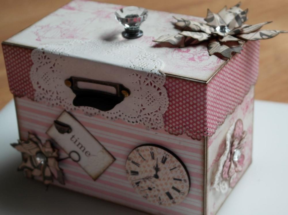 *tea time* OOAK Handmade Recipe/Storage Box