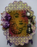 *clock face* OOAK Handmade Vintage Trinket Gift/Memory Box