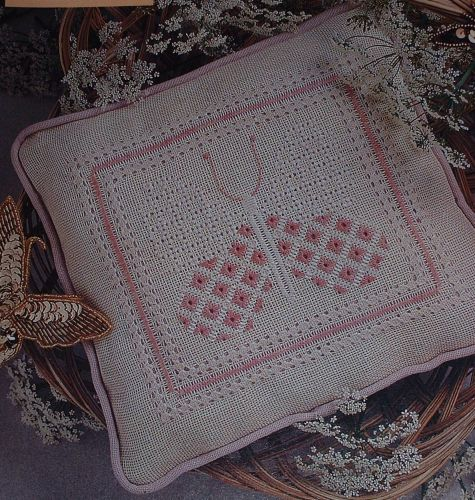 Butterfly Cushion ~ Pulled Work Pattern