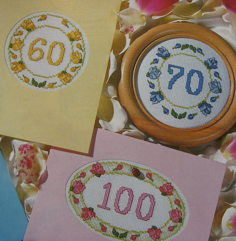 Numbered Birthday/Anniversary Cards ~ Cross Stitch Charts